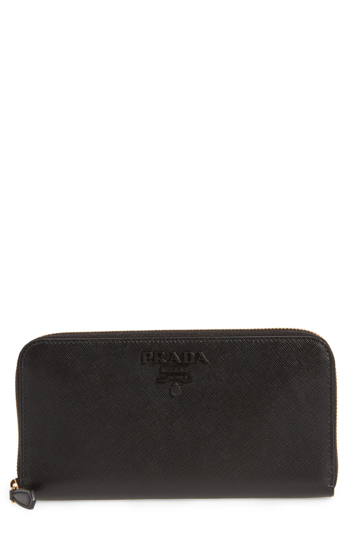 a7949ab6db0e Prada Monochrome Zip Around Wallet | Nordstrom
