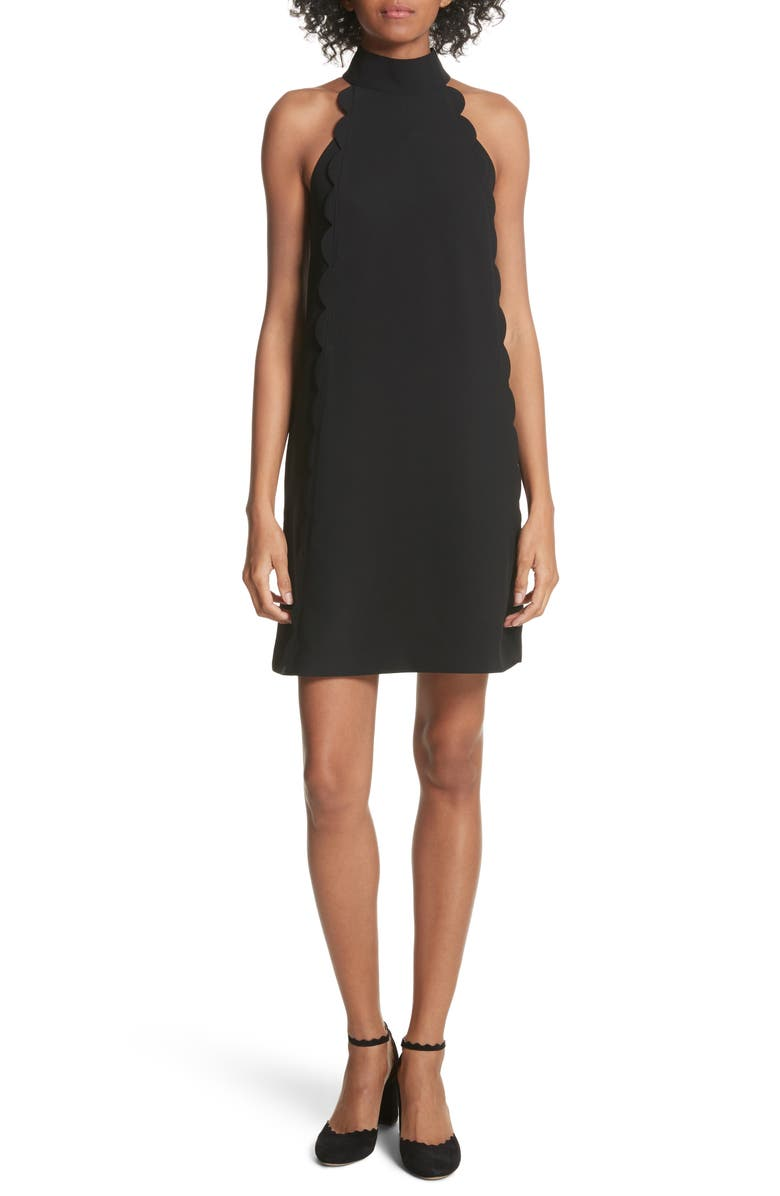 TED BAKER LONDON Torrii High Neck Tunic Dress, Main, color, BLACK