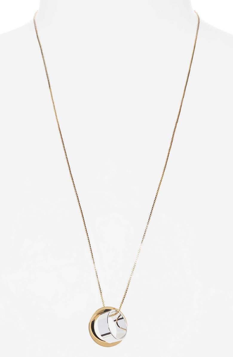 JENNY BIRD Carmine Ring Pendant Necklace, Main, color, TWO TONE