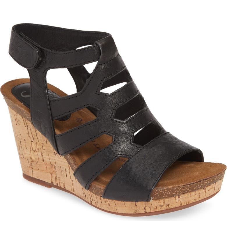 SÖFFT Courtnee Wedge Sandal, Main, color, 001