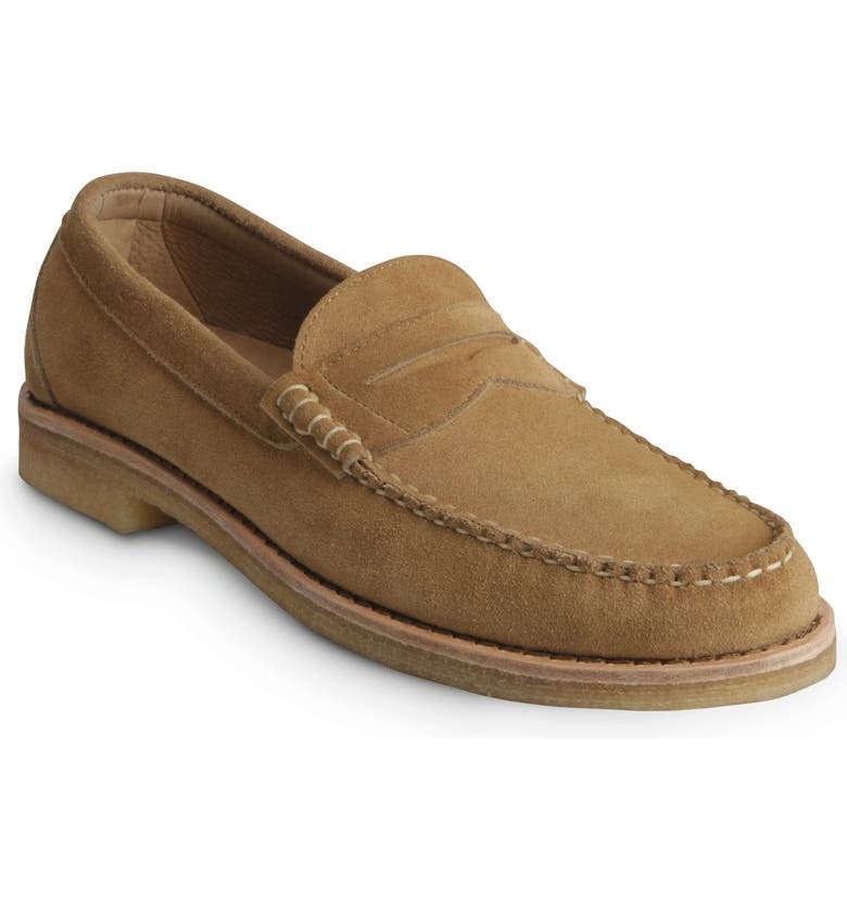 ALLEN EDMONDS Catalina Penny Loafer, Main, color, TAN SUEDE