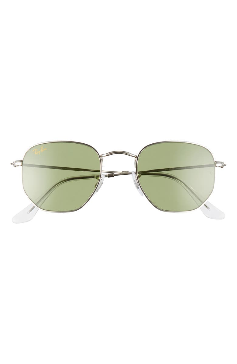 RAY-BAN 48mm Sunglasses, Main, color, SILVER/ GREEN SOLID