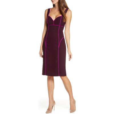 Adelyn Rae Korina Sleeveless Cocktail Dress, Purple