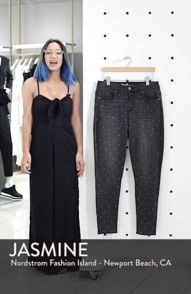 High Rise Lace-Up Side Hem Skinny Jeans, sales video thumbnail