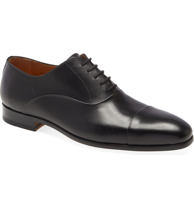 MAGNANNI Segovia Cap Toe Oxford, Main, color, BLACK