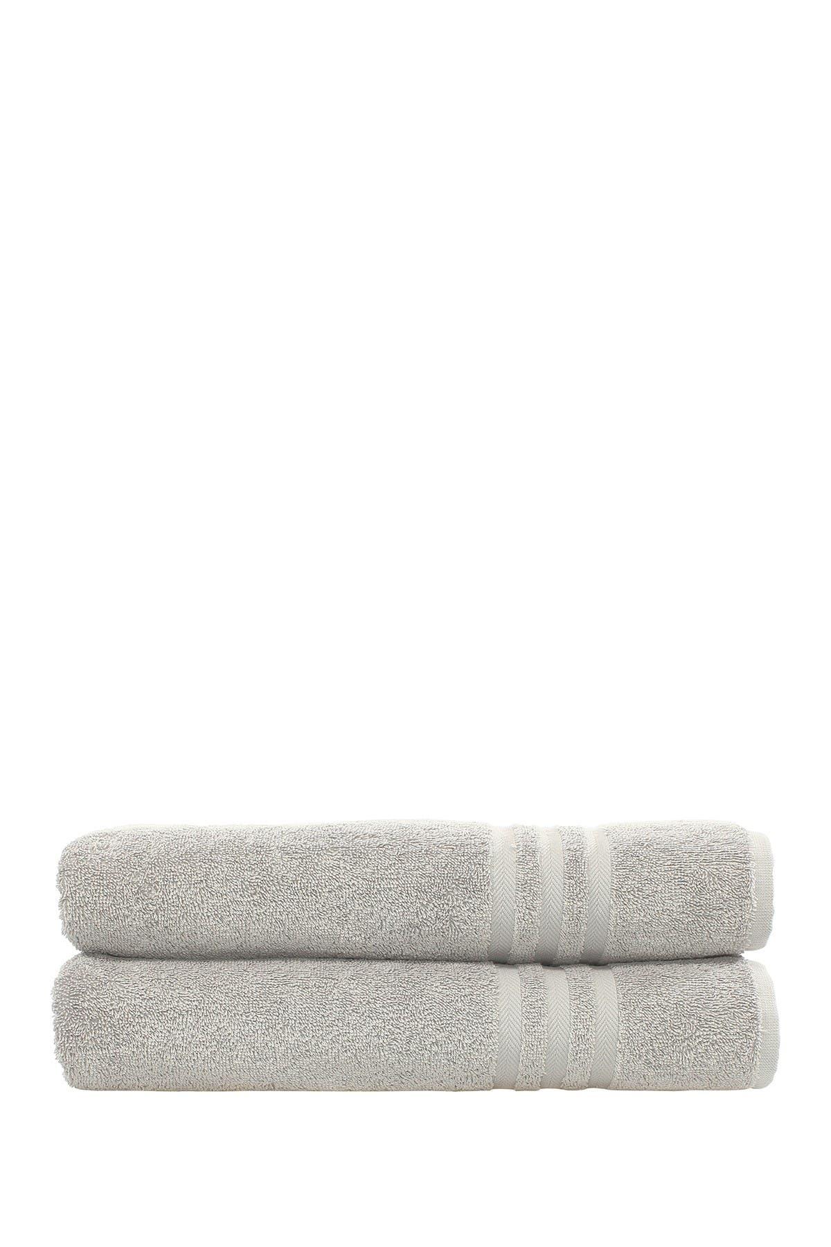 Image of LINUM HOME Denzi Bath Towels - Set of 2 - Grey