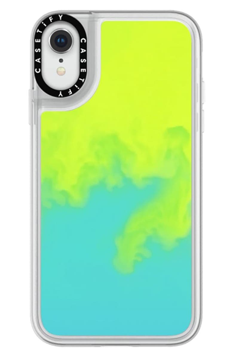 CASETIFY Neon Sand iPhone X/XS/XS Max & XR Case, Main, color, GREEN/ BLUE
