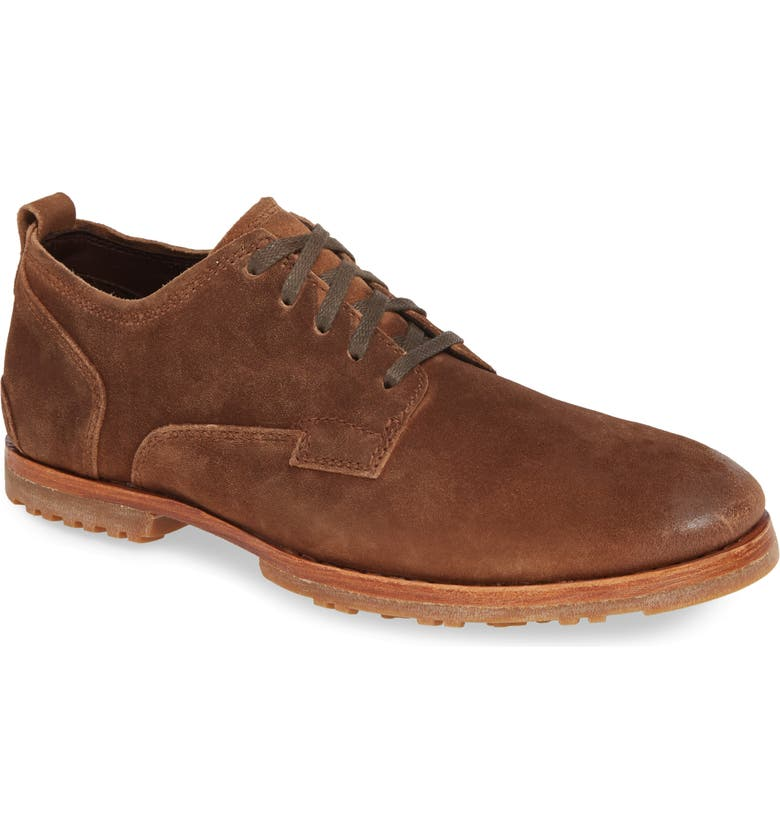 TIMBERLAND Bardstown Plain Toe Derby, Main, color, BROWN SUEDE/ LEATHER
