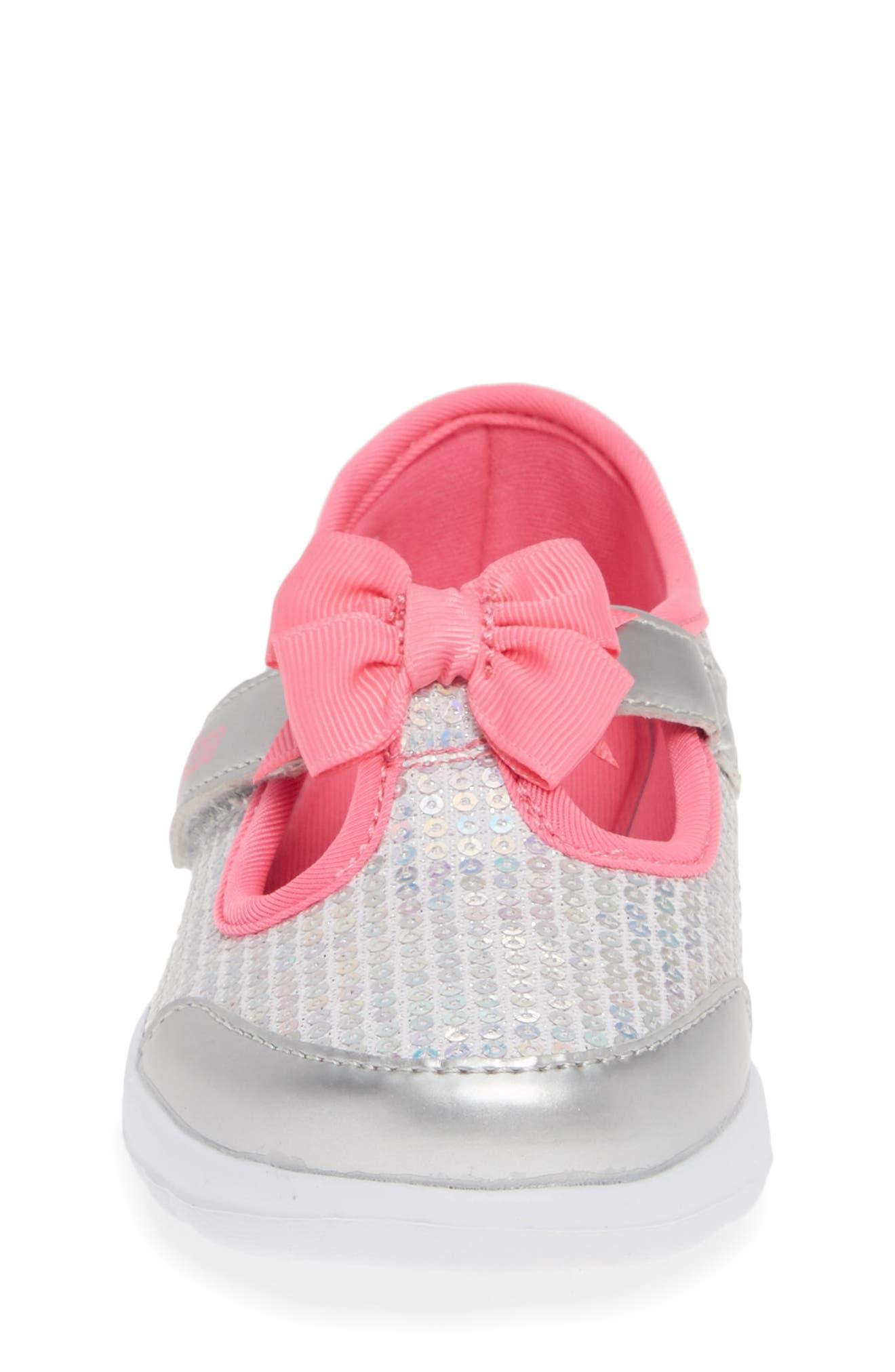 ,                             GOwalk Joy Sequin Sneaker,                             Alternate thumbnail 4, color,                             SILVER/ MULTI