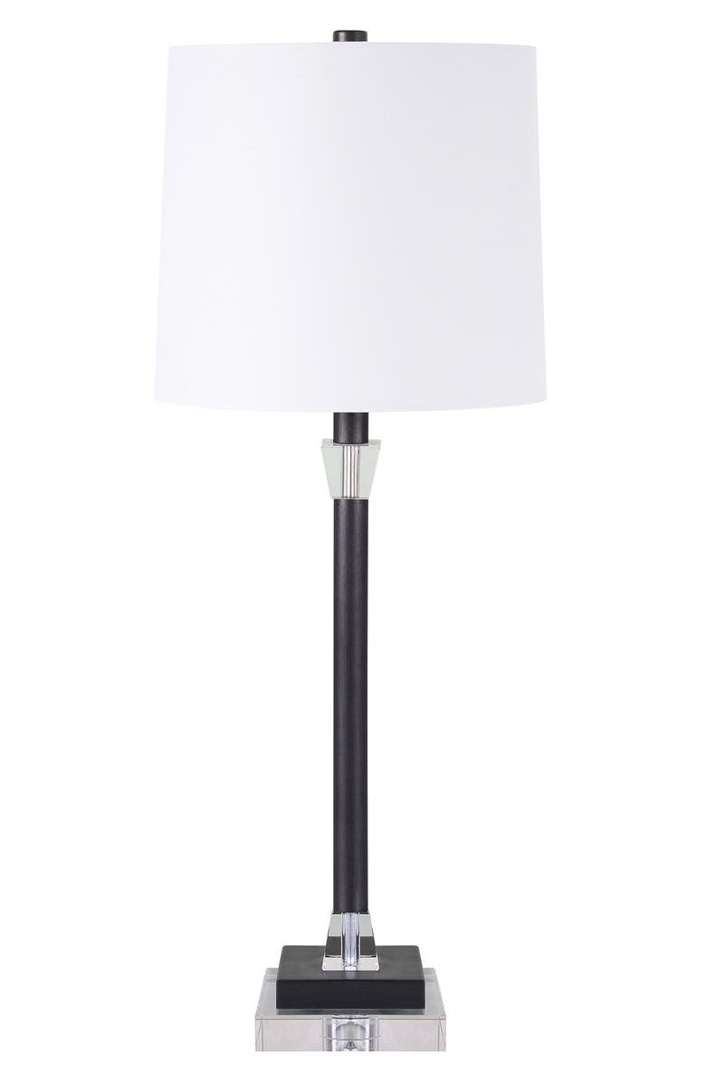 RENWIL Kibbey Iron & Crystal Table Lamp, Main, color, GRAPHITE BRONZE CLEAR