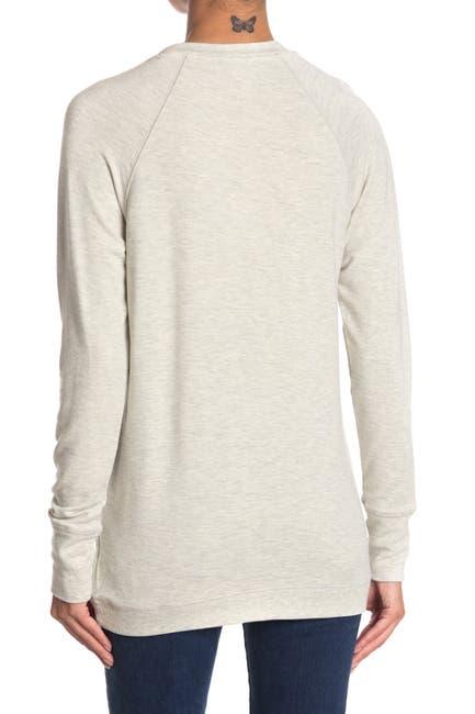Image of philosophy Asymmetrical Hem Crew Neck Sweatshirt