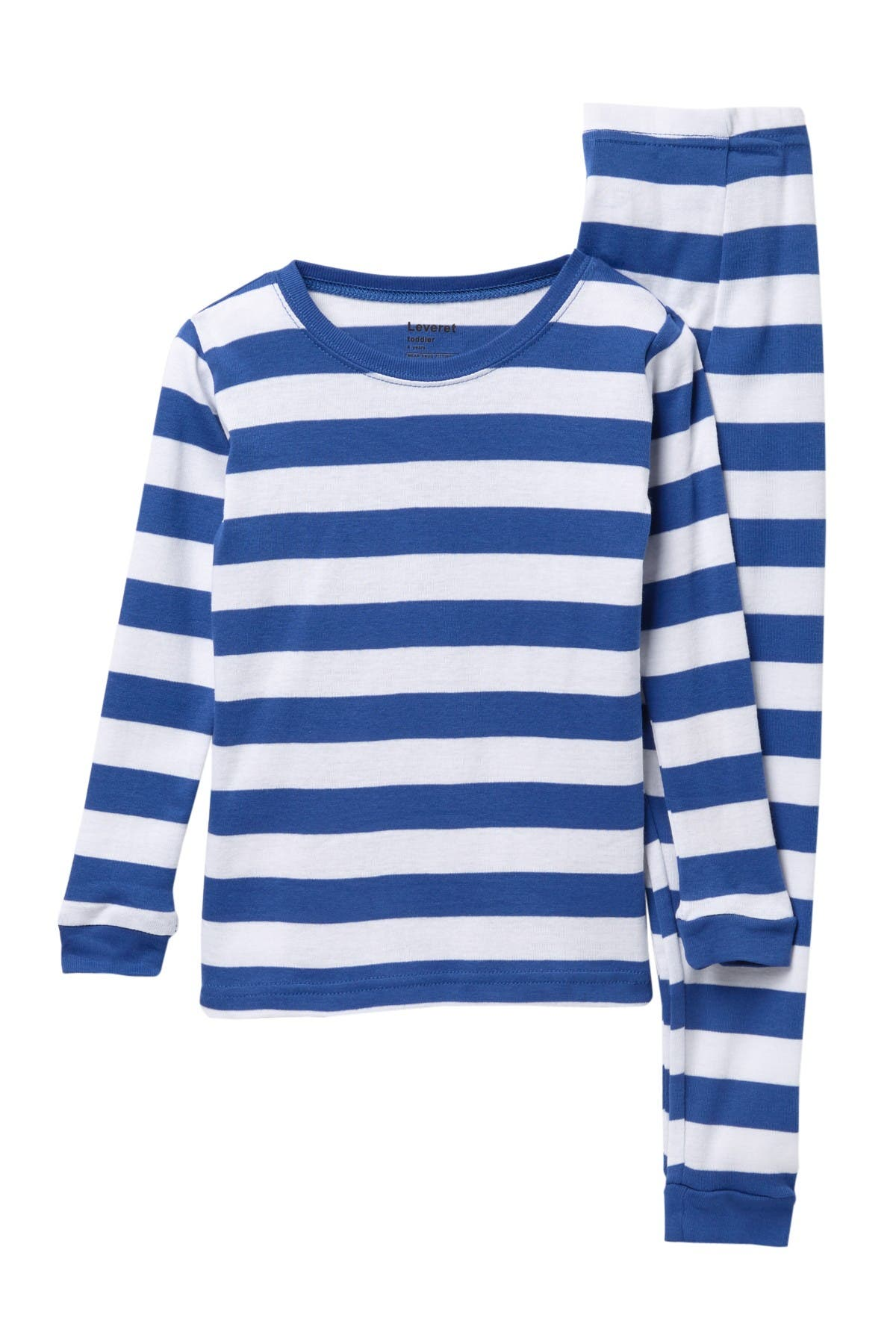 Image of Leveret Striped Pajama Set