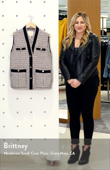 Long Metallic Tweed Vest, sales video thumbnail