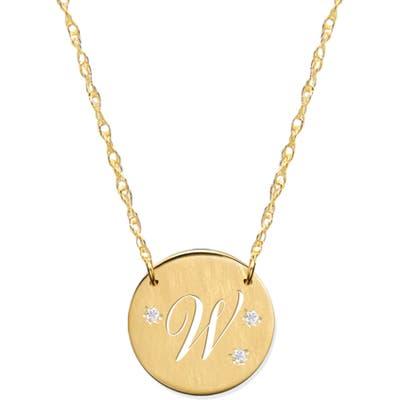 Jane Basch Designs Pierced Initial Diamond Pendant Necklace