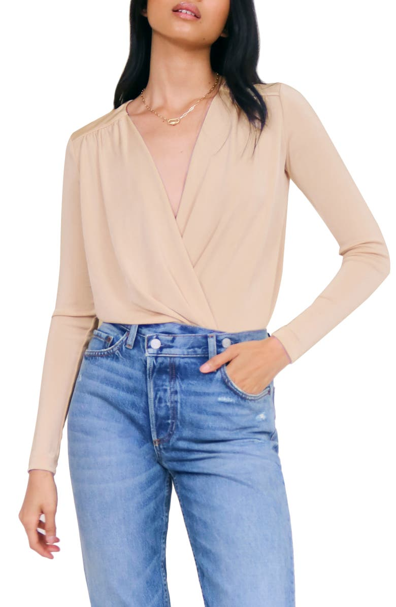 FREE PEOPLE Turnt Bodysuit, Main, color, PINK PEARL