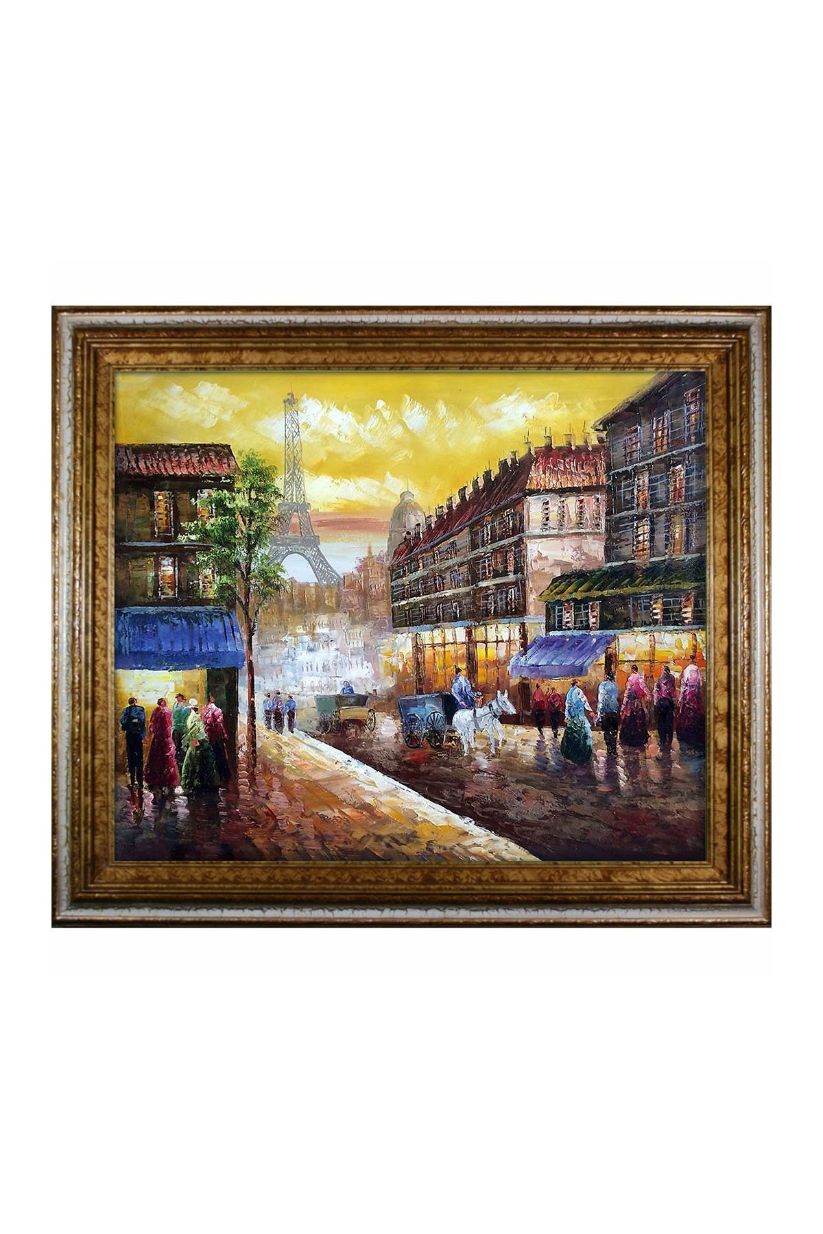 "Image of Overstock Art Evening's Delight In Paris with Tuscan Crackle Frame - 26"" x 30"""