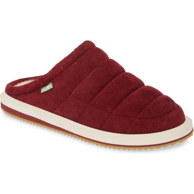 Sanuk Puff N Chill Low Cord Quilted Mule, Red