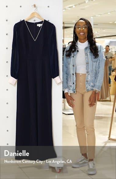 Long Sleeve Crepe & Georgette Jumpsuit, sales video thumbnail