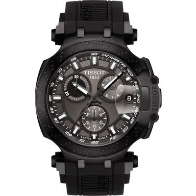 Tissot T-Race Chronograph Silicone Strap Watch,