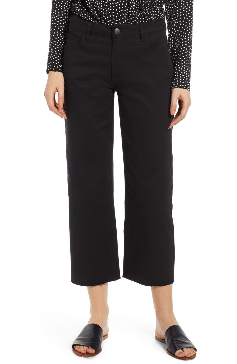 TINSEL Wide Leg Crop Pants, Main, color, BLACK