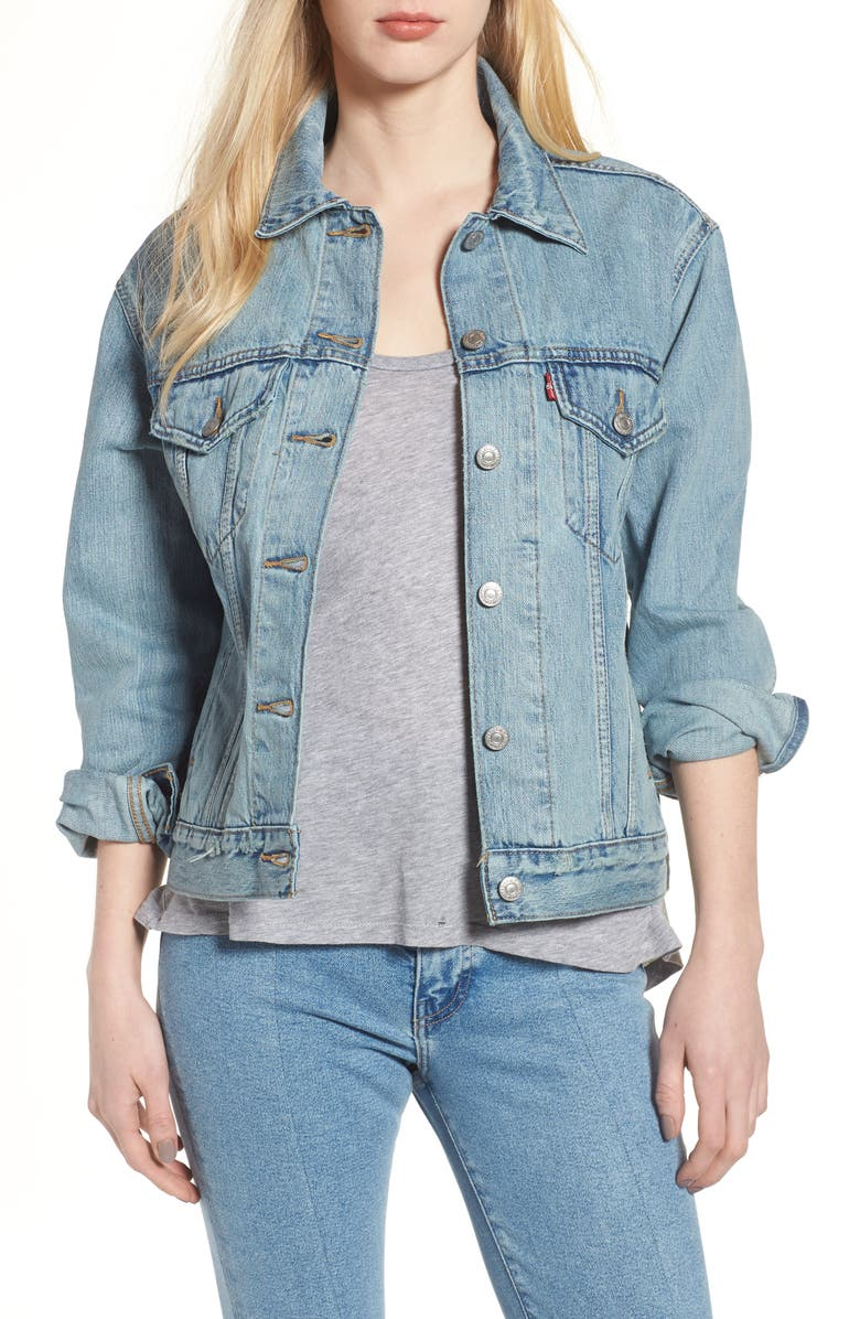 LEVI'S<SUP>®</SUP> Ex-Boyfriend Trucker Jacket, Main, color, DREAM OF LIFE