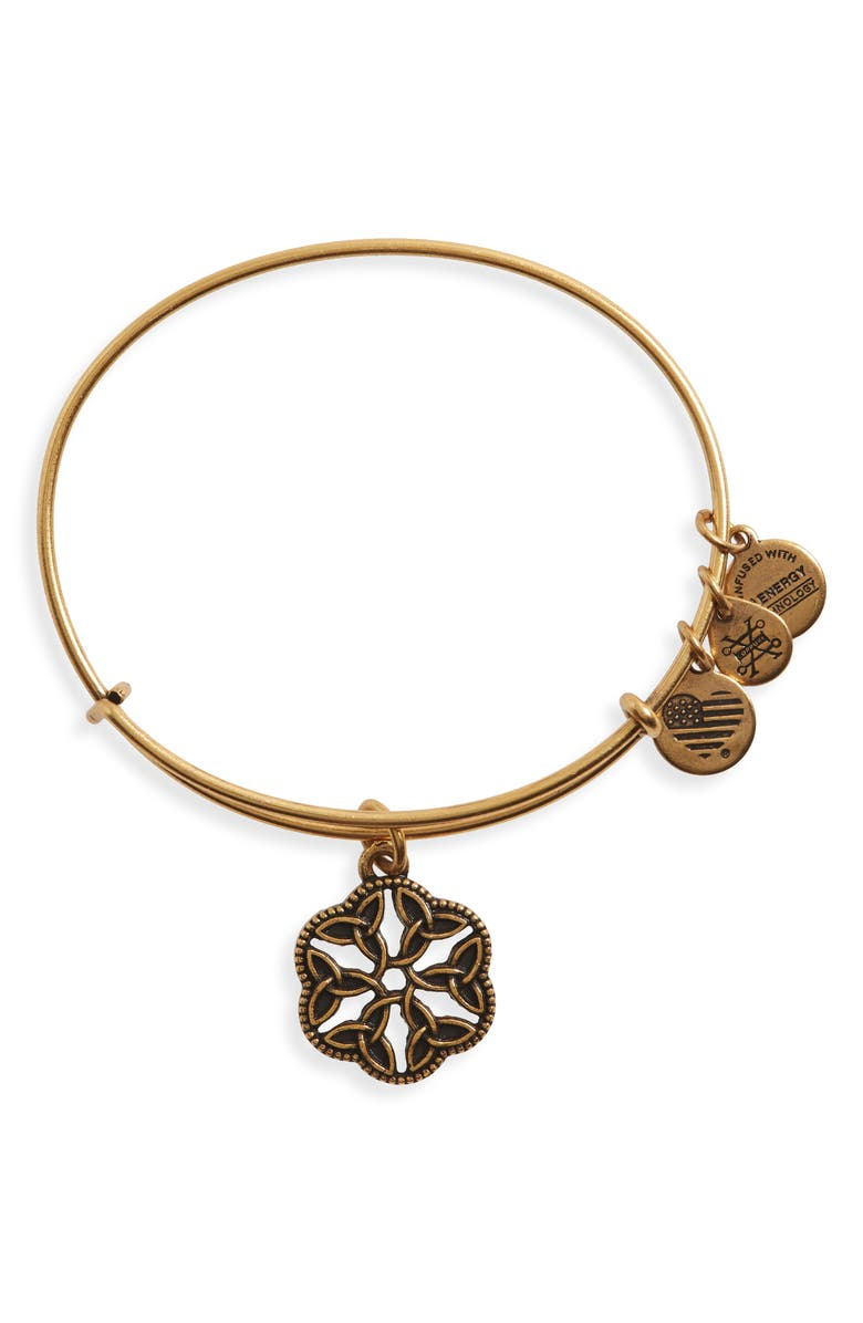 ALEX AND ANI Endless Knot Bracelet, Main, color, RUSSIAN GOLD