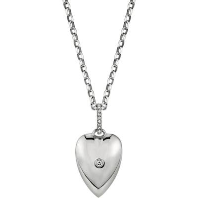 Sheryl Lowe Bezel Diamond Heart Pendant Necklace