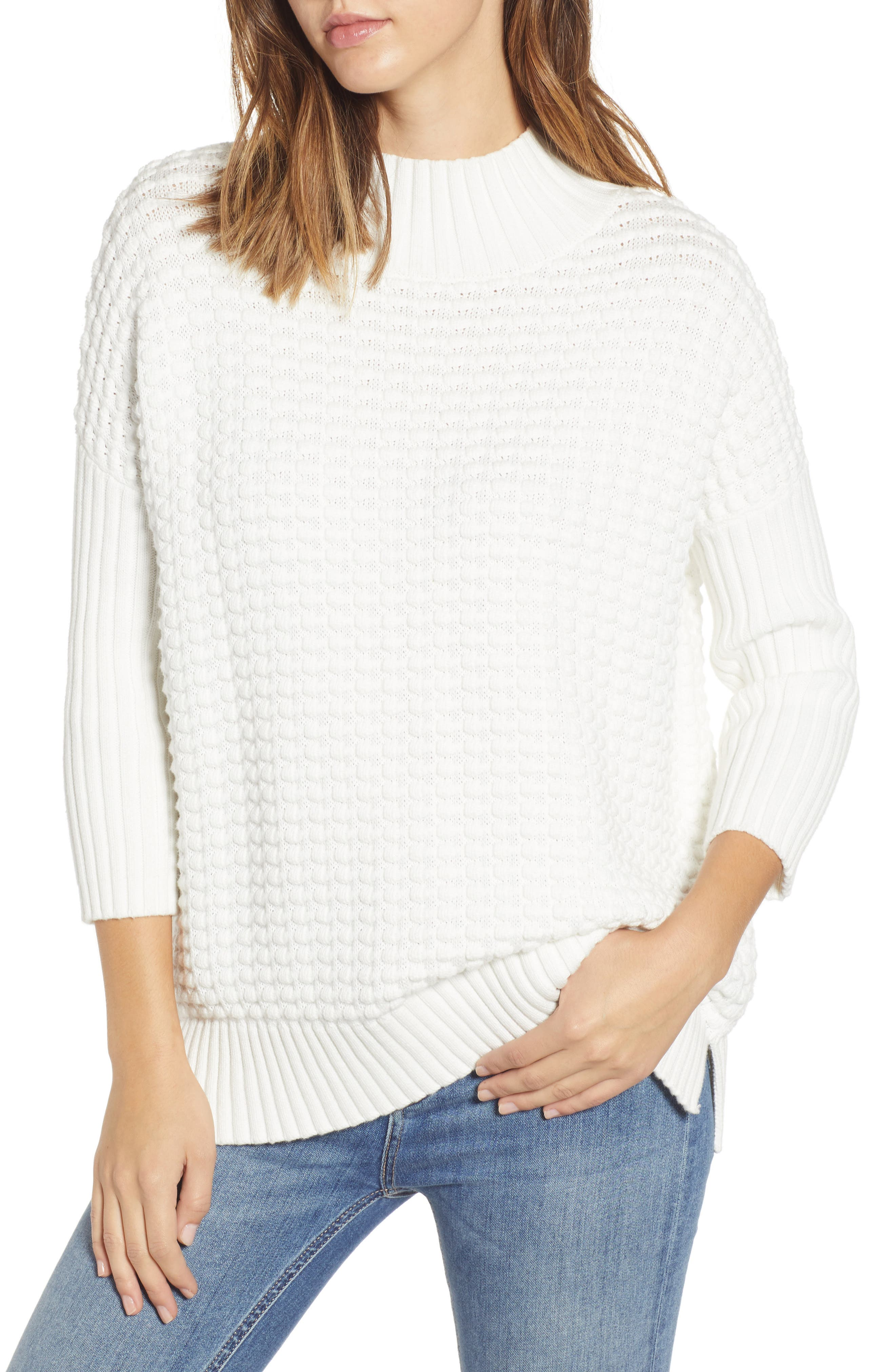 Mozart Popcorn Sweater, Main, color, 110