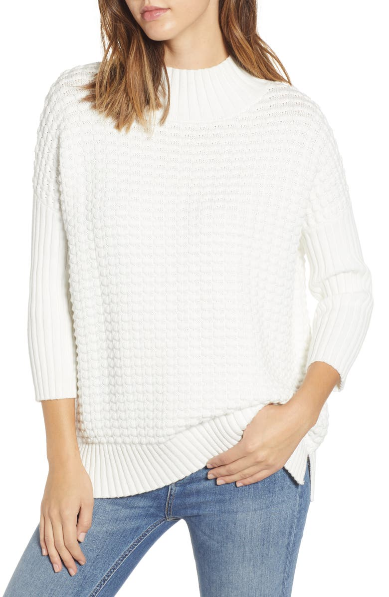 FRENCH CONNECTION Mozart Popcorn Sweater, Main, color, 110