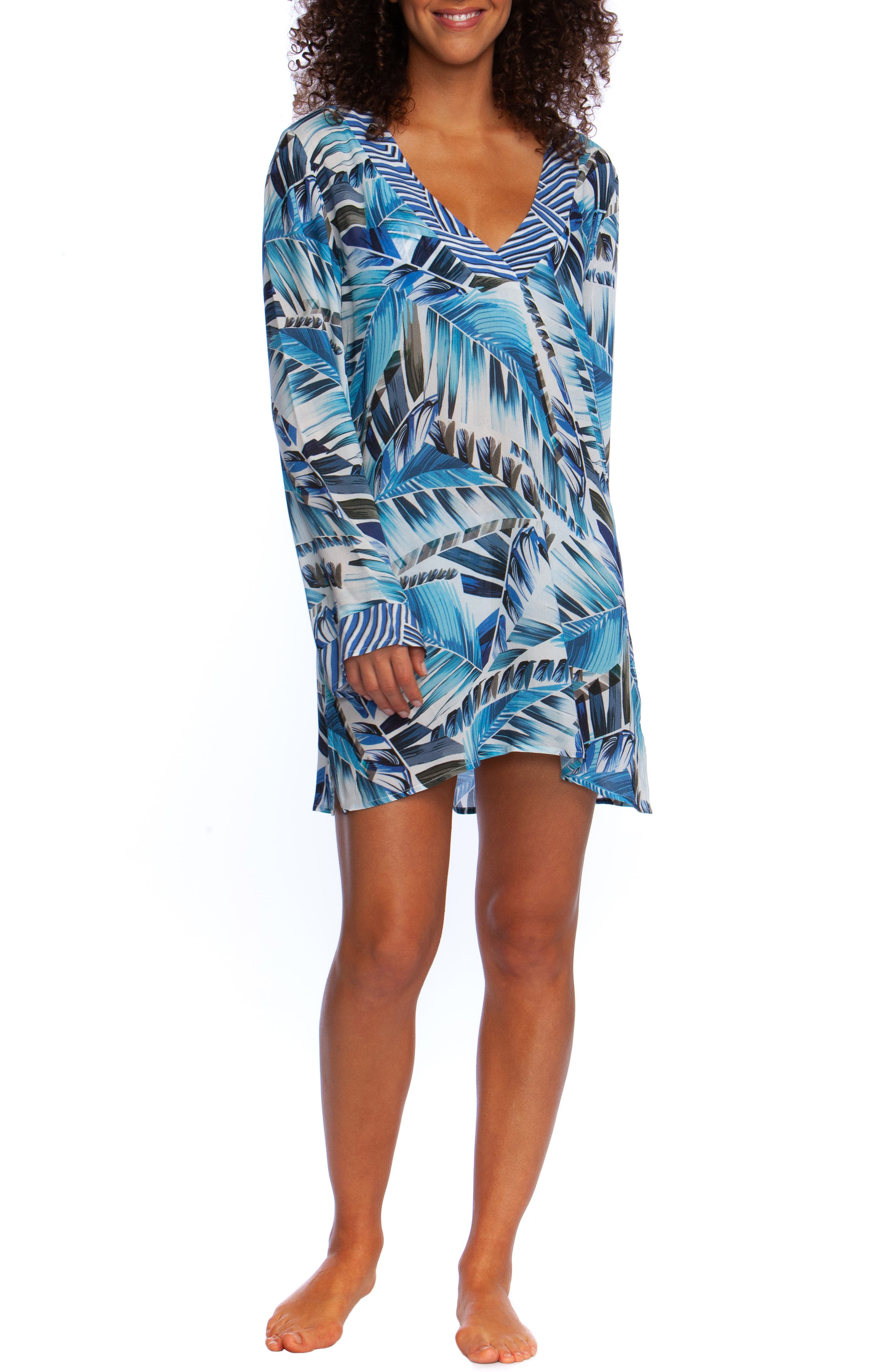 Two Cool Cover-Up Tunic, Main, color, BLUE