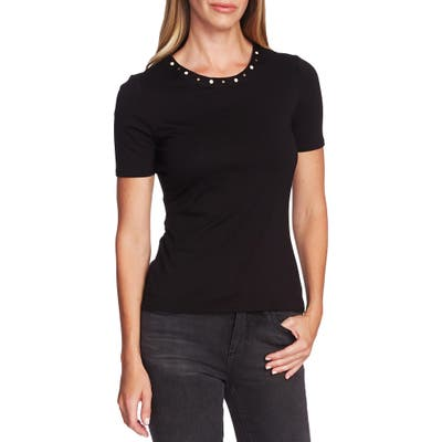 Vince Camuto Studded Neck Top