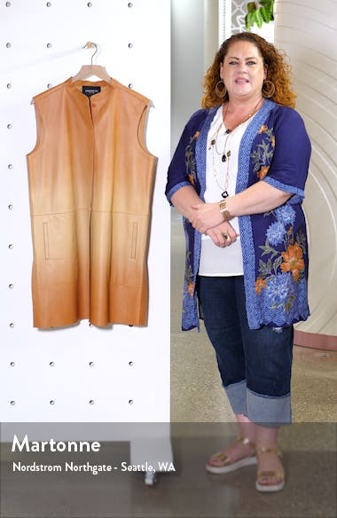 Malva Ombré Leather Vest, sales video thumbnail