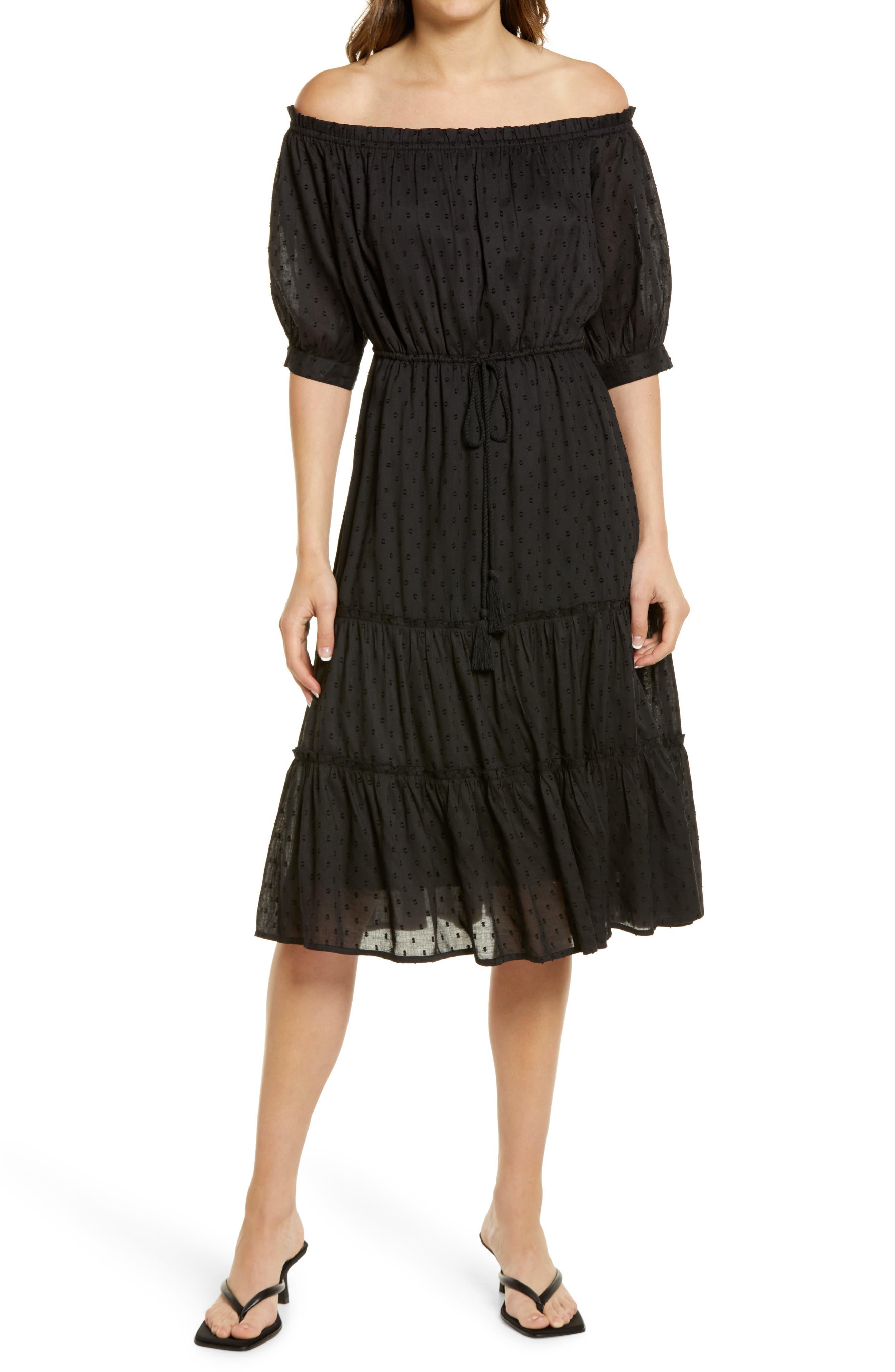 Women's Bishop + Young Tulum Off The Shoulder Clip Dot Dress