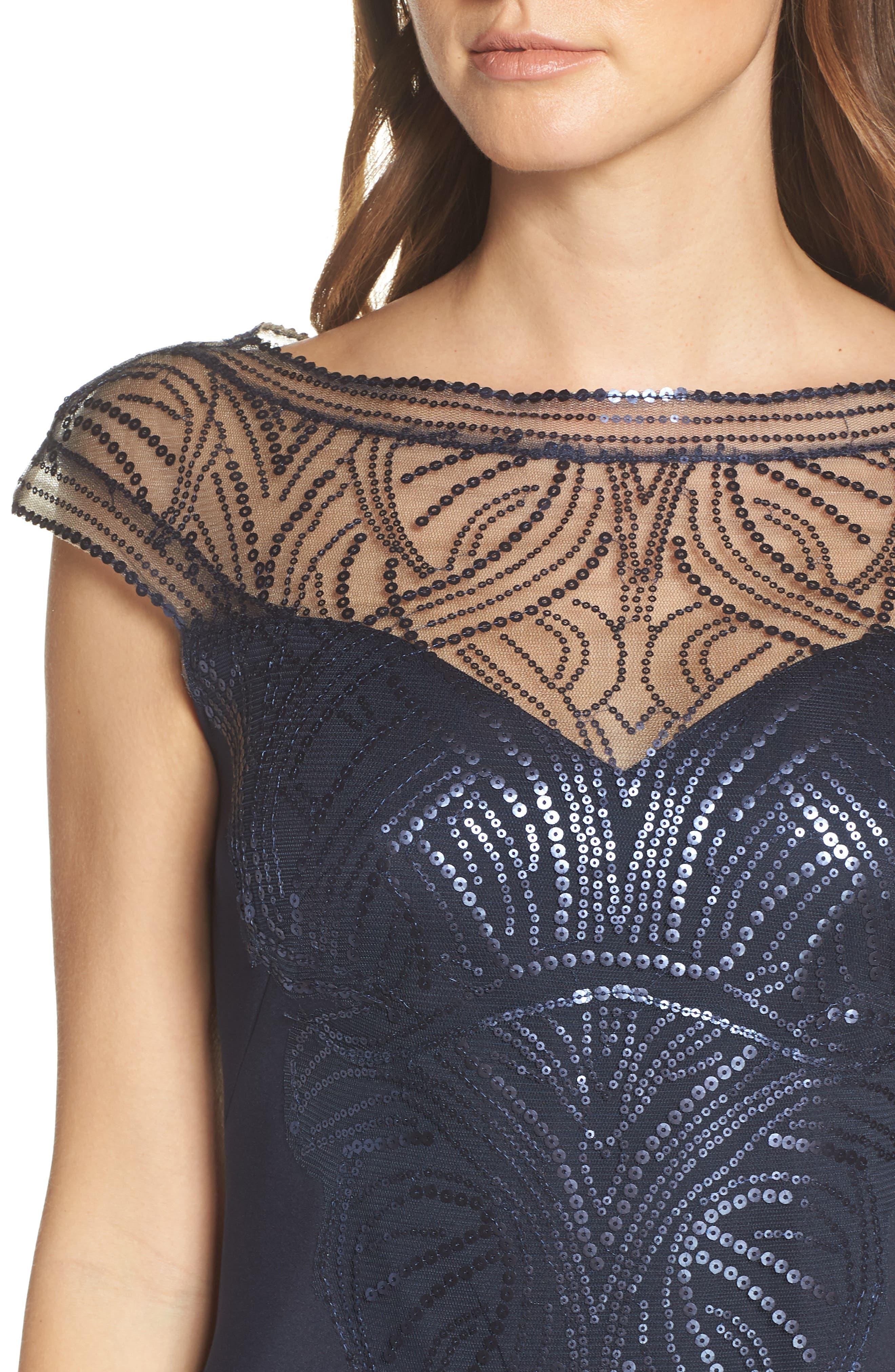 ,                             Sequin Sheath Dress,                             Alternate thumbnail 5, color,                             NAVY