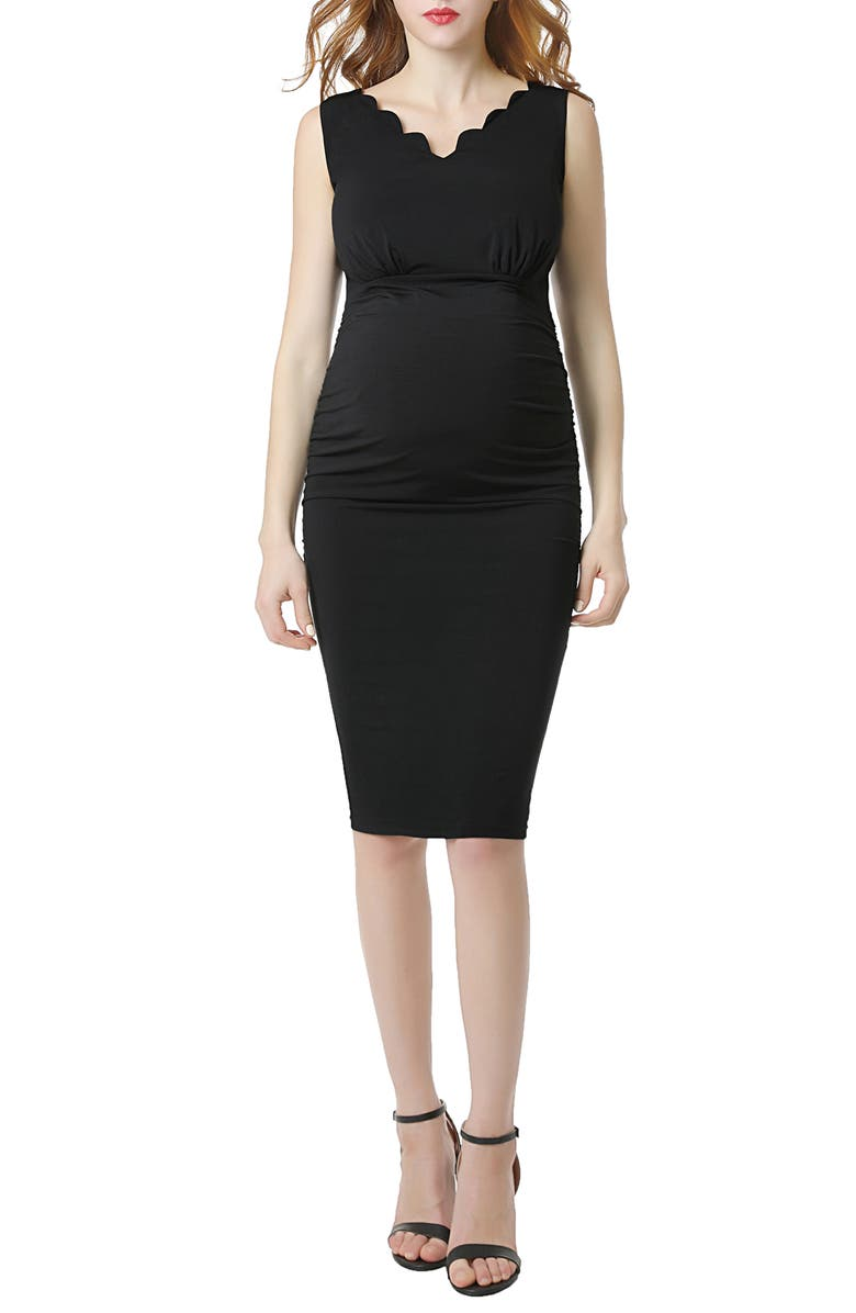 KIMI AND KAI Talula Body-Con Maternity Dress, Main, color, BLACK