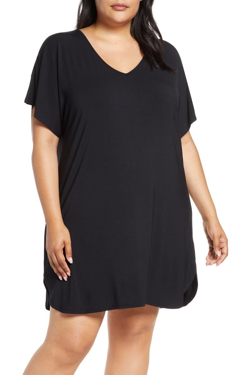 NORDSTROM Lingerie Moonlight Sleep Shirt, Main, color, 001