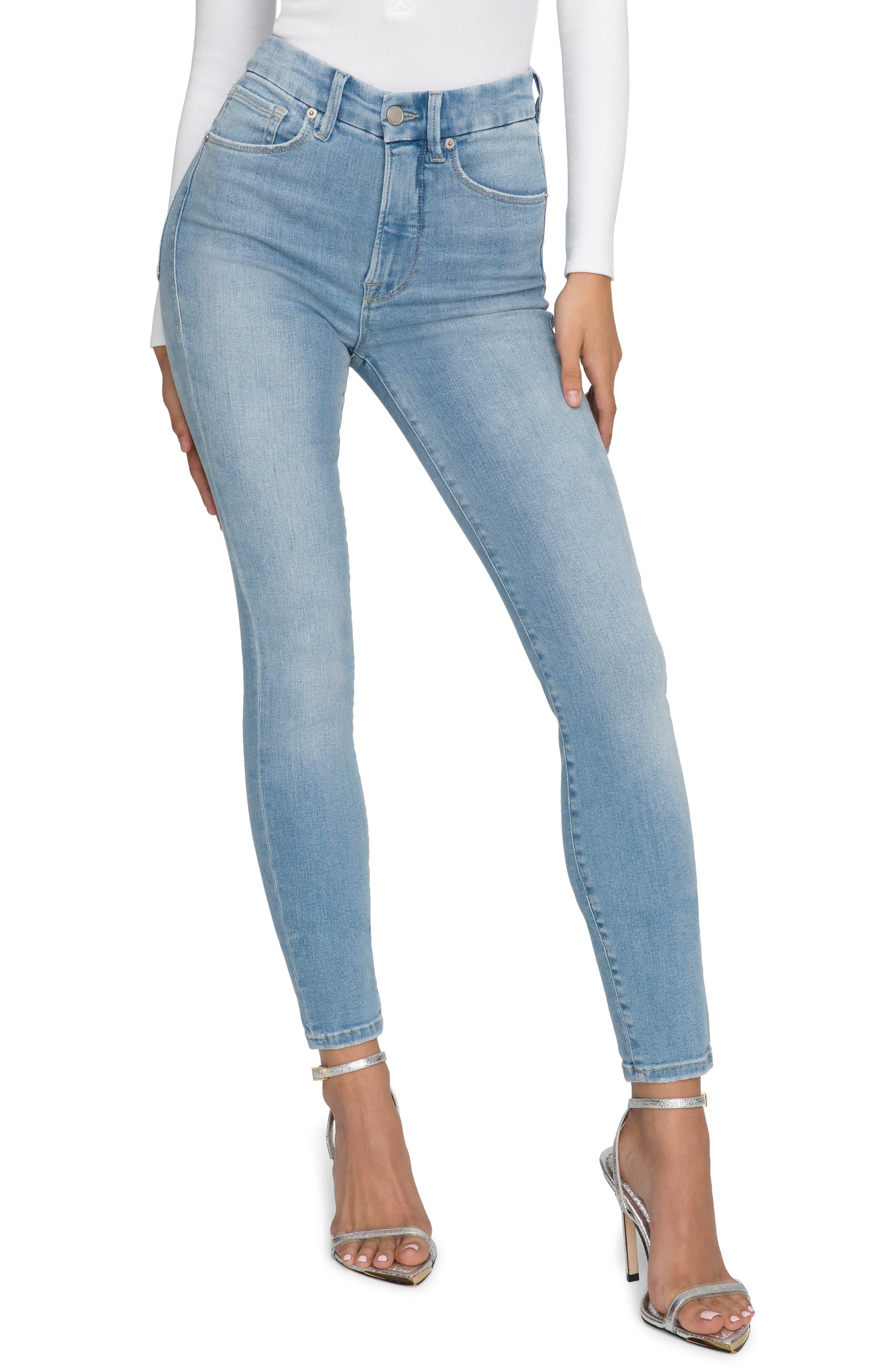 Women's Good American Good Waist High Waist Skinny Jeans
