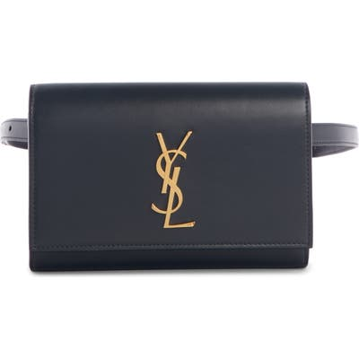 Saint Laurent Kate Leather Belt Bag - Black