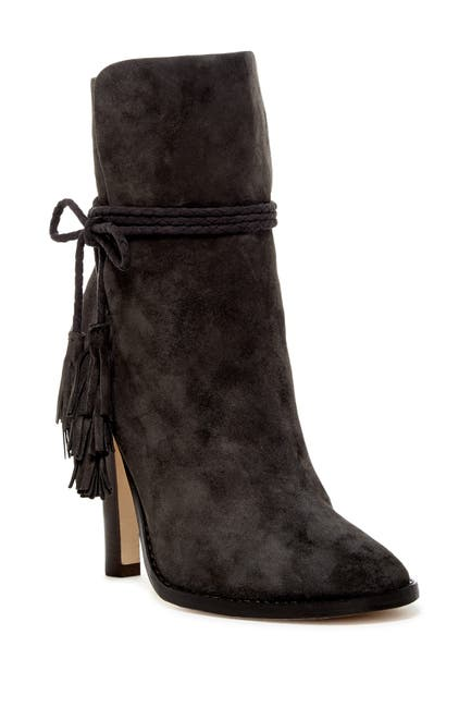 Image of Joie Chap Suede Bow Ankle Bootie
