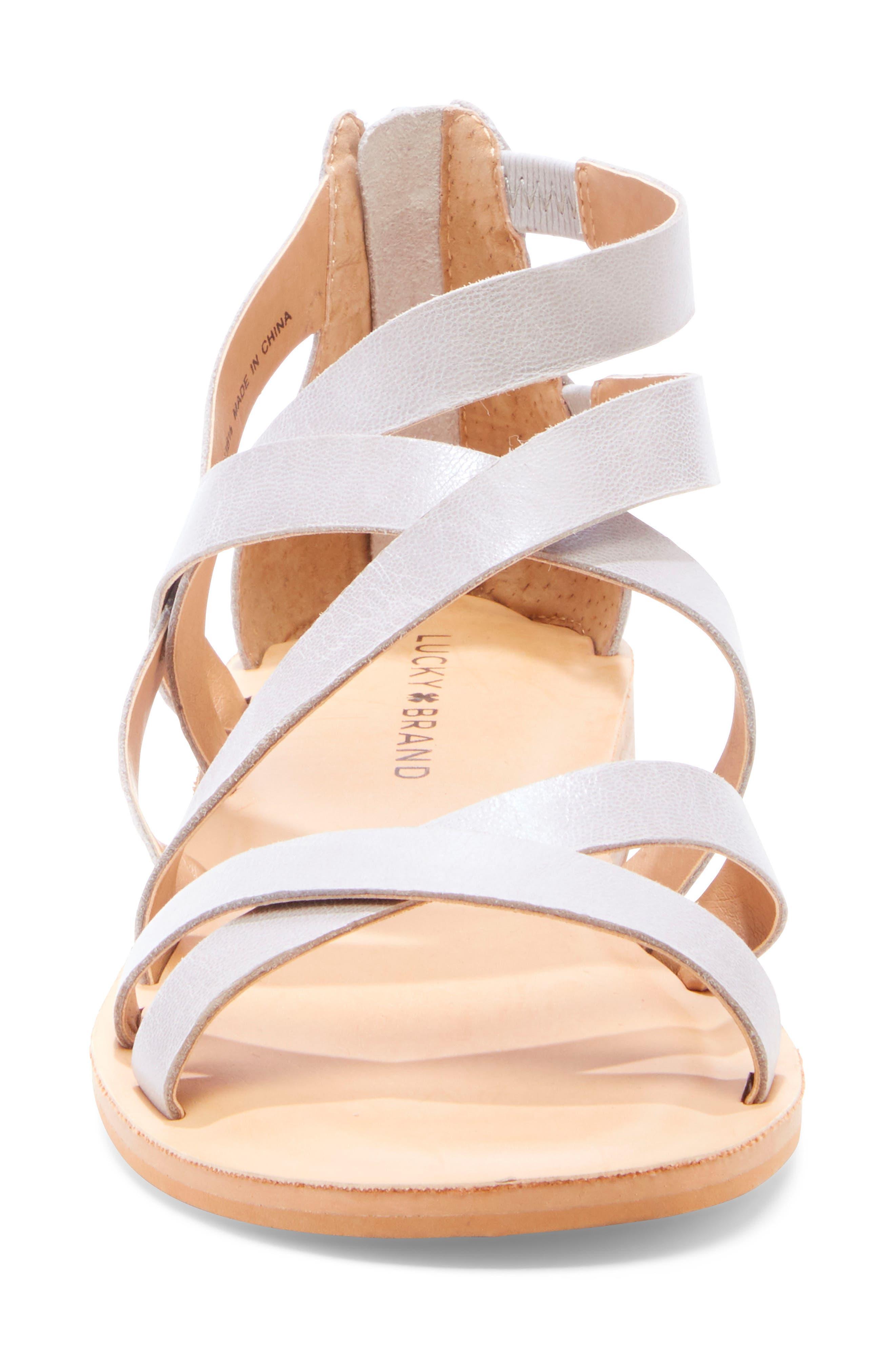 ,                             Helenka Strappy Wedge Sandal,                             Alternate thumbnail 4, color,                             CHINCHILLA LEATHER