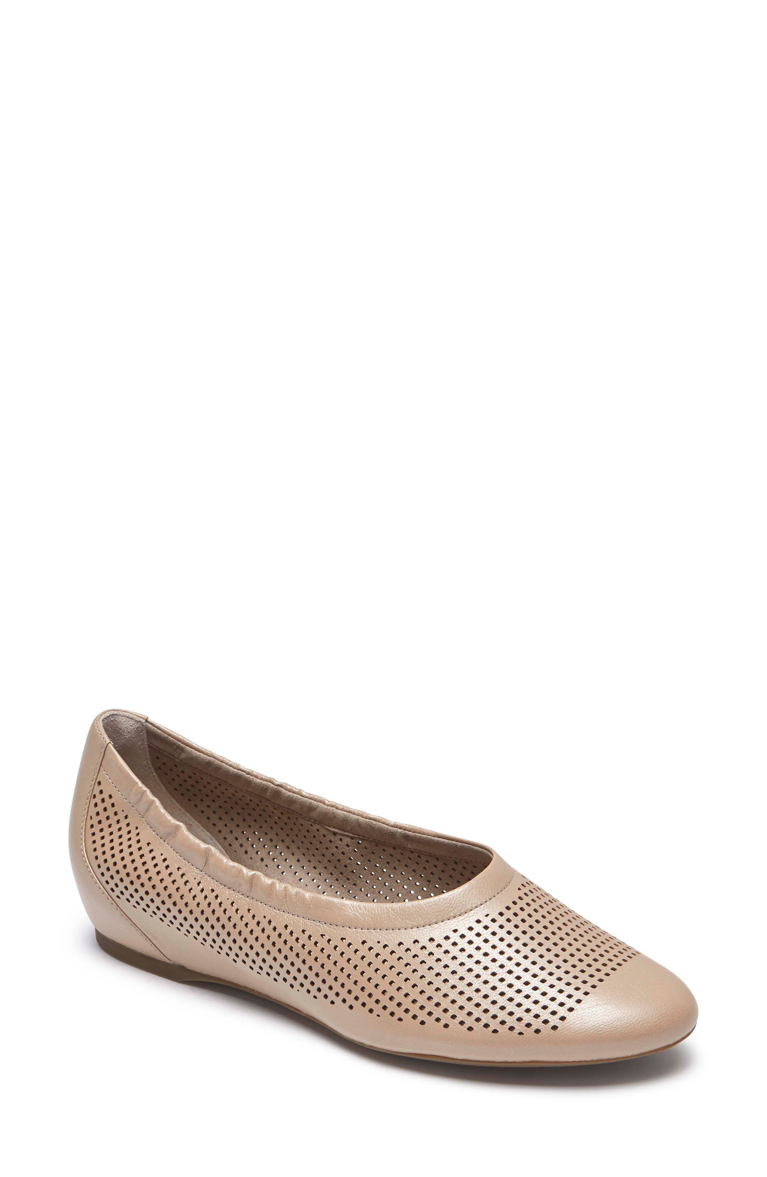 Rockport Total Motion Luxe Flat W - Grey