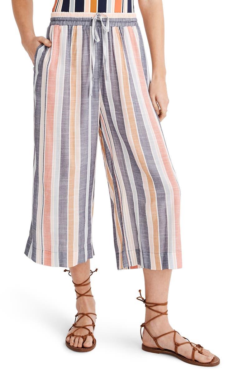 94623e1529 Huston Towel Stripe Crop Cover-Up Pants, Main, color, DEEP NAVY