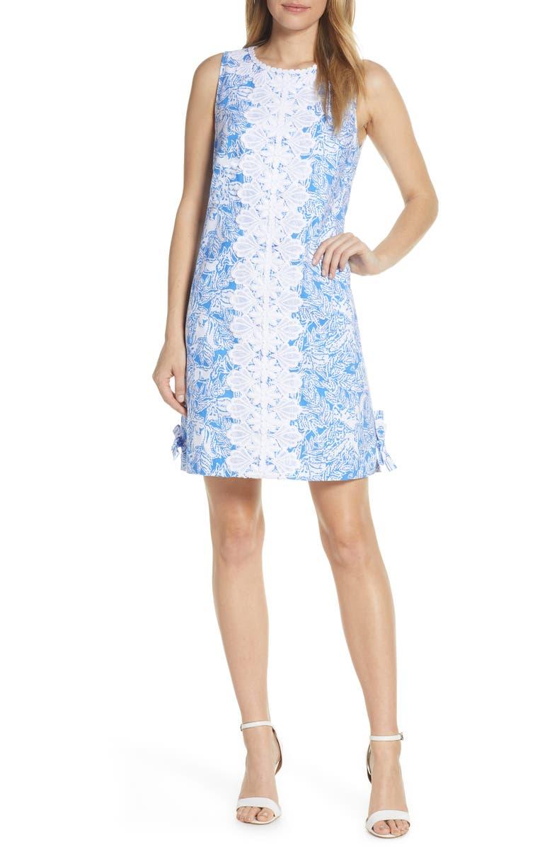 LILLY PULITZER<SUP>®</SUP> Melani Shift Dress, Main, color, COASTAL BLUE FANCY FEET