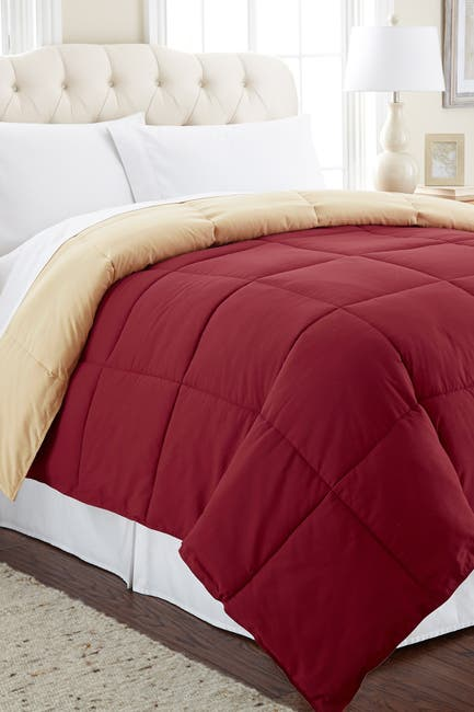 Image of Modern Threads Down Alternative Reversible Queen Comforter - Anemone/Wheat