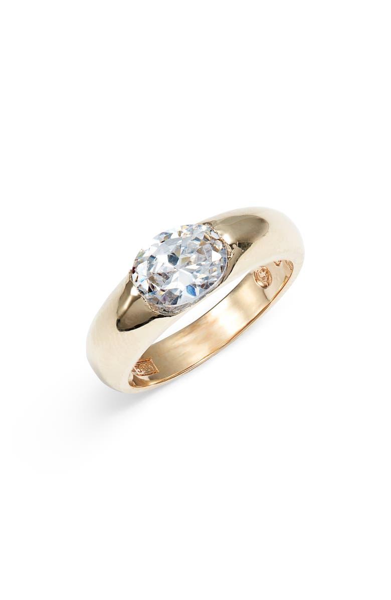LOREN STEWART Bardot Cubic Zirconia Band Ring, Main, color, GOLD