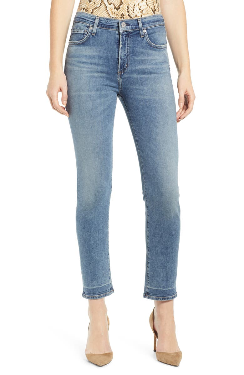 CITIZENS OF HUMANITY Harlow High Waist Ankle Slim Jeans, Main, color, 495