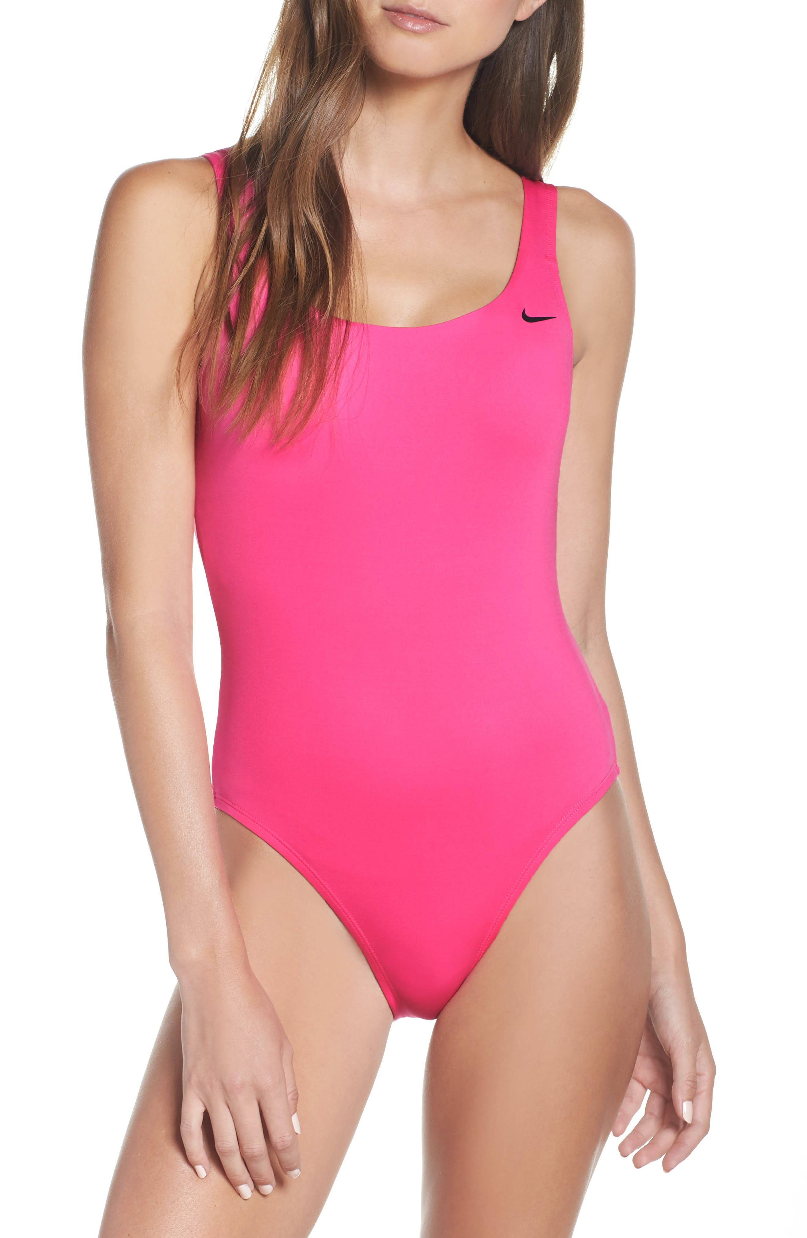 Nike U-Back One-Piece Swimsuit, Pink