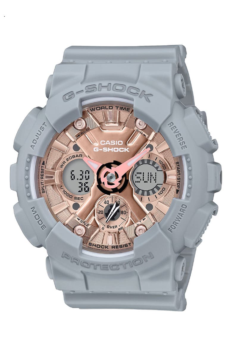 G-SHOCK BABY-G Ana-Digi Resin Watch, 46mm, Main, color, 020
