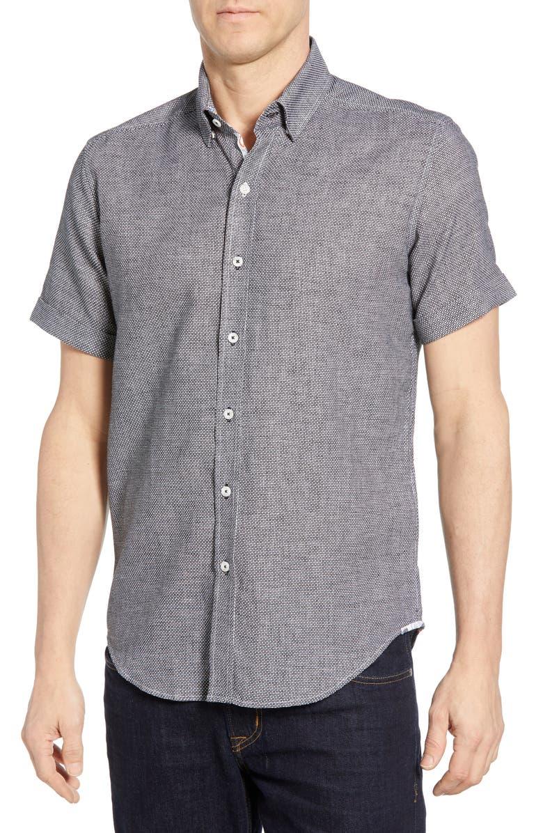 ROBERT GRAHAM Liam Tailored Fit Shirt, Main, color, 001