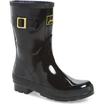 Joules Kelly Welly Waterproof Rain Boot, Black